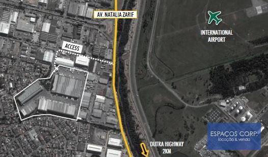 Galpão logístico para locação, 3.561m² - Parque Industrial do Jardim São Geraldo - Guarulhos/SP