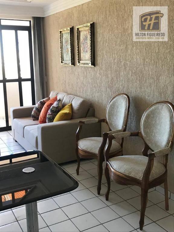 Apartamento com 2 dormitórios para alugar, 70 m² por R$ 1.800/mês - Aeroclube - João Pessoa/PB