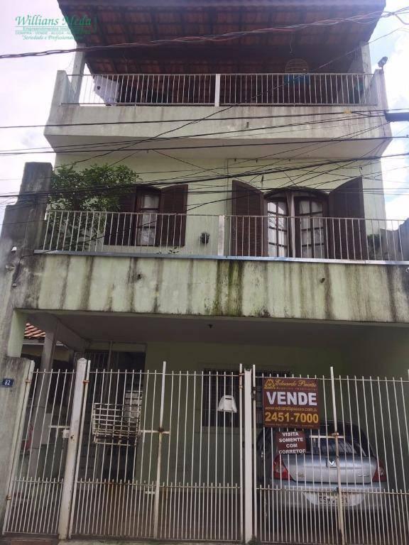 Sobrado residencial à venda, 2 dormitórios, 2 vagas. Vila Galvão, Guarulhos.
