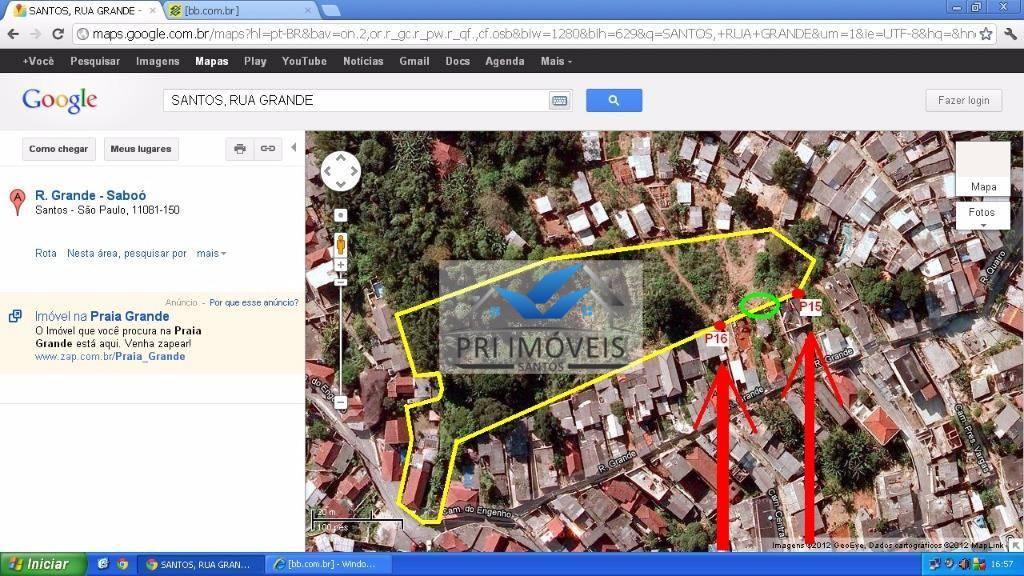 Área residencial à venda, Morro do Saboo, Santos.