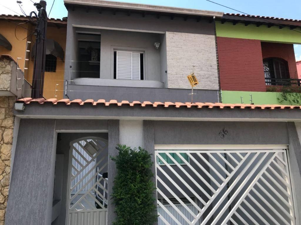 Sobrado residencial à venda, 201 m², 3 dorm e 3 vagas!!! Jardim Teles de Menezes, Santo André.