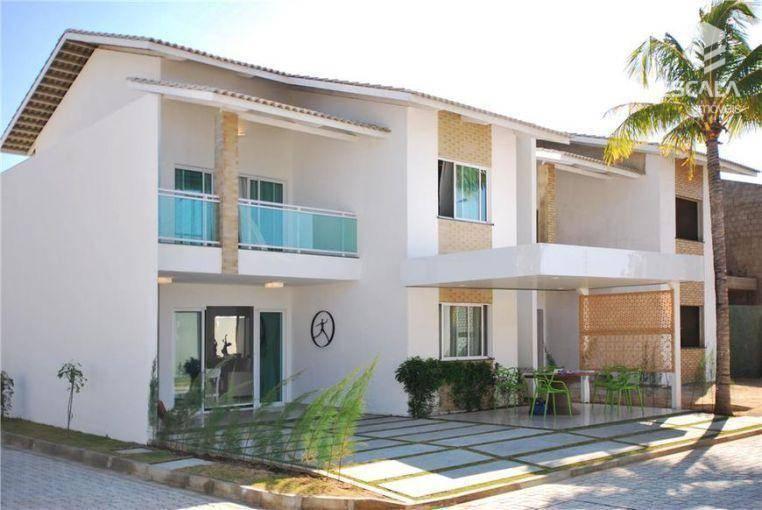 Casa duplex com 4 quartos à venda, 180 m², área de lazer, 4 vagas, financia - Pedra - Eusébio/CE