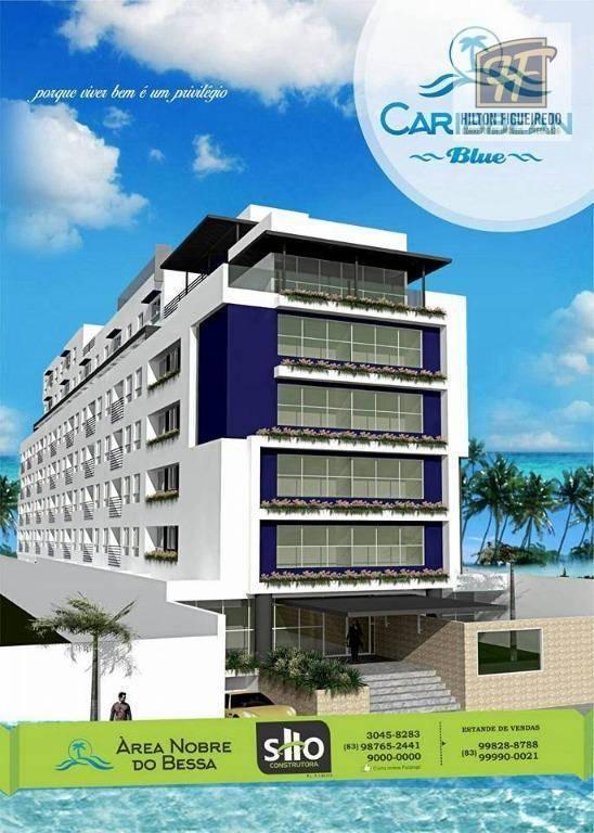 Flat com 1 dormitório à venda, 25 m² por R$ 187.000,00 - Bessa - João Pessoa/PB