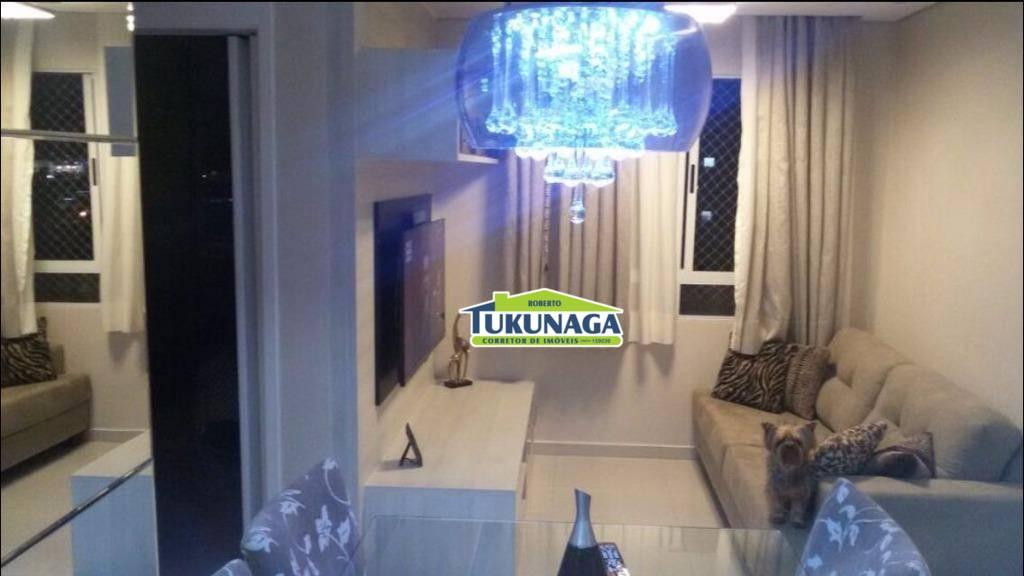 Apartamento 100% mobiliado com 2 dormitórios para alugar, 45 m² por R$ 1.450/mês - Ponte Grande - Guarulhos/SP