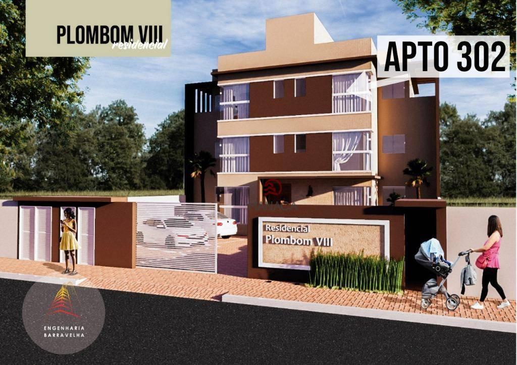 Apartamento com 2 dormitórios à venda, 50 m² por R$ 128.000 - São Cristóvão - Barra Velha/SC