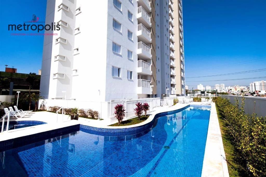 Apartamento com 2 dormitórios para alugar, 63 m² por R$ 1.600/mês - Campestre - Santo André/SP