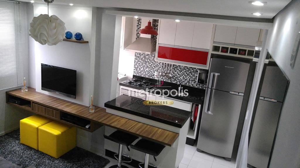 Apartamento com 2 dormitórios à venda, 48 m² por R$ 218.000,00 - Parque São Vicente - Mauá/SP