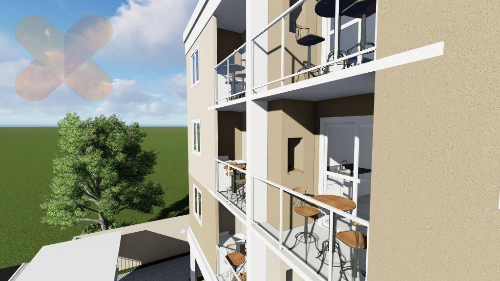 Apartamento com 2 dormitórios à venda, 47 m² por R$ 174.000 - Weissópolis - Pinhais/PR