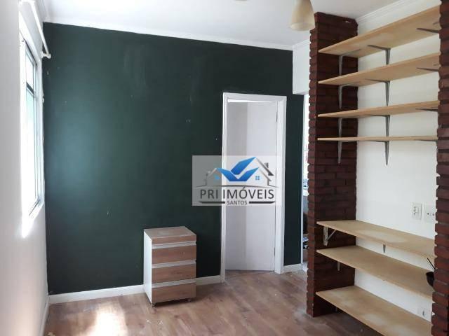Apartamento com 1 dormitório à venda, 48 m² por R$ 262.000 - Aparecida - Santos/SP