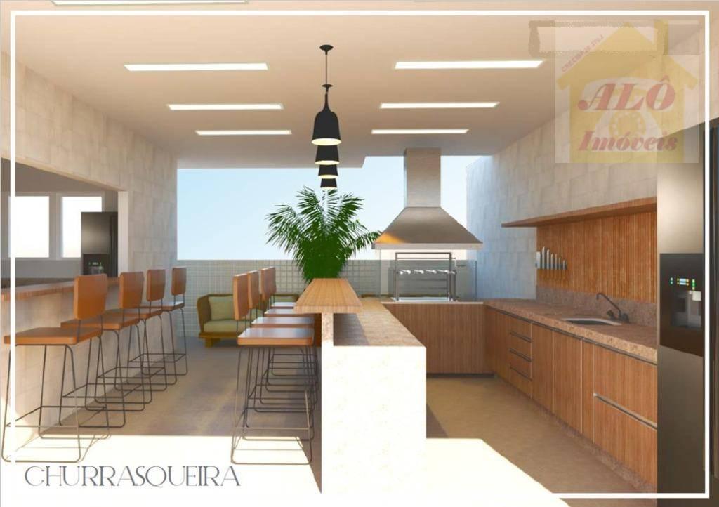 Apartamento à venda, 62 m² por R$ 265.360,00 - Aviação - Praia Grande/SP