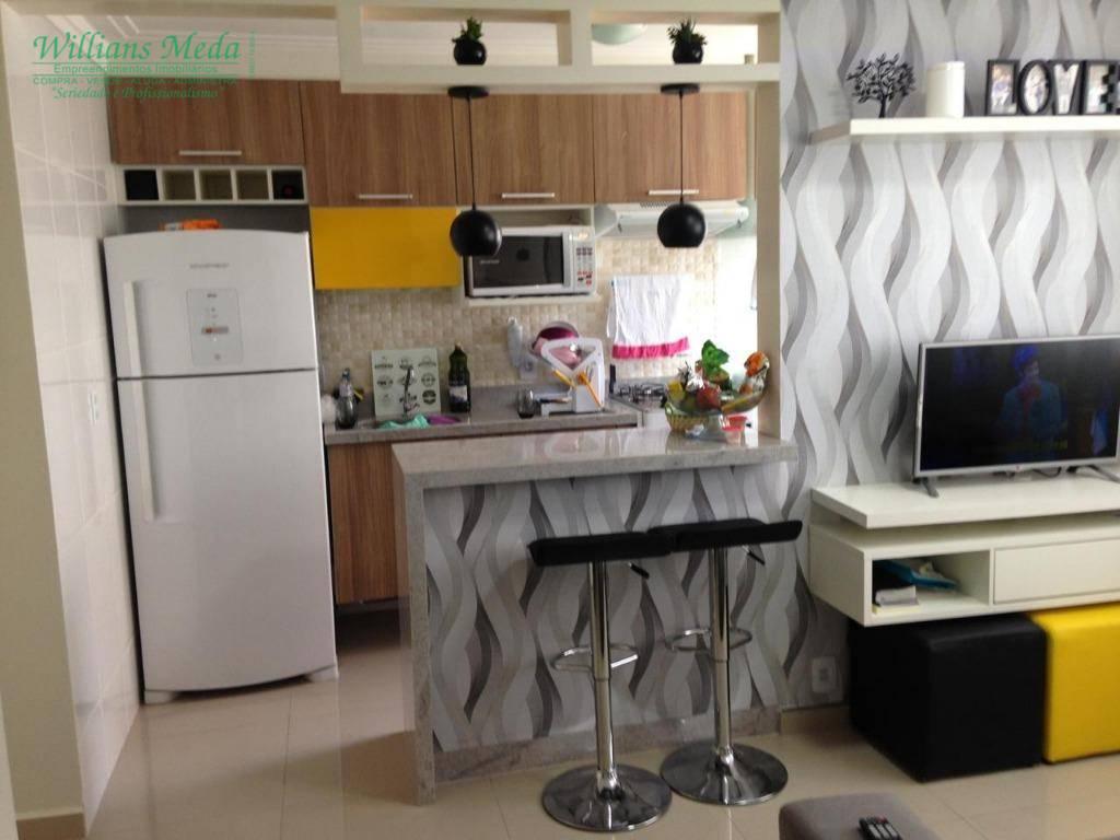Apartamento com 2 dormitórios à venda, 44 m² por R$ 255.000 - Vila Rio de Janeiro - Guarulhos/SP