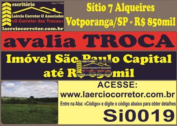 Sitio Votuporanga 7Alqueires R$ 8950mil Aceita Imóvel até R$ 650mil SP Capital (Detalhes na descrição do anúncio)