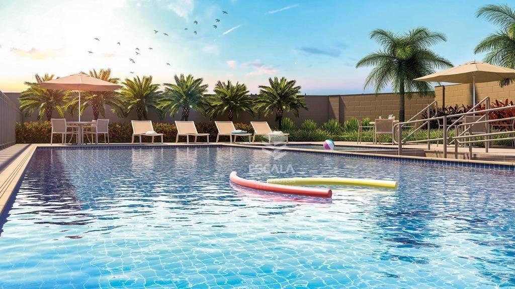 Apartamento Garden com 2 quartos à venda, 49 m², lazer, 1 vaga, financia - Maraponga - Fortaleza/CE
