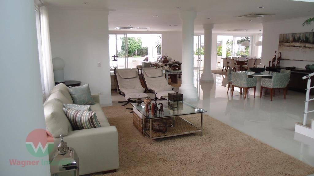 sobrado à venda no jardim acapulco em guarujá, sala 5 ambientes com lavabo, 7 suítes com...