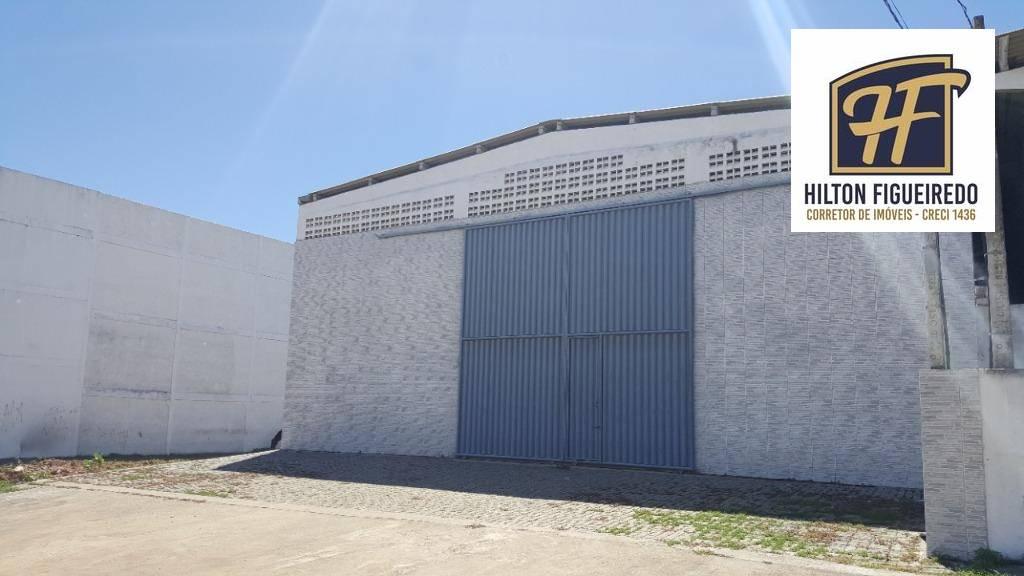 Galpão para alugar, 375 m² por R$ 3.500/mês - Renascer - Cabedelo/PB