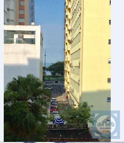 Apartamento com 1 dormitório à venda, 55 m² por R$ 260.000 - Embaré - Santos/SP