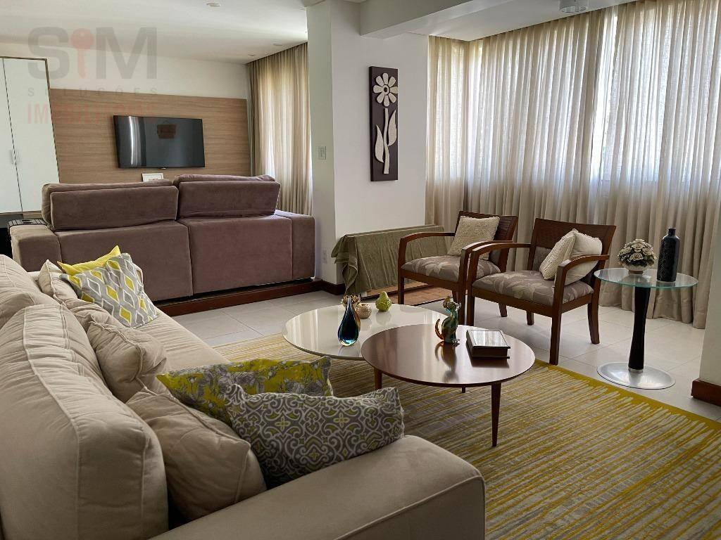 Apartamento com 2 dormitórios para alugar, mobiliado, nascente, amplo, 117 m²Pituba - Salvador/BA