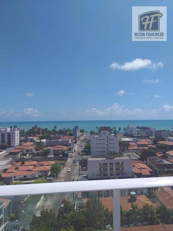 Apartamento com 2 dormitórios para alugar, 60 m² por R$ 1.900,00/mês - Manaíra - João Pessoa/PB