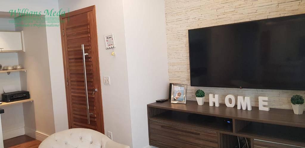 Apartamento com 3 dormitórios para alugar, 91 m² por R$ 2.950/mês - Vila Augusta - Guarulhos/SP
