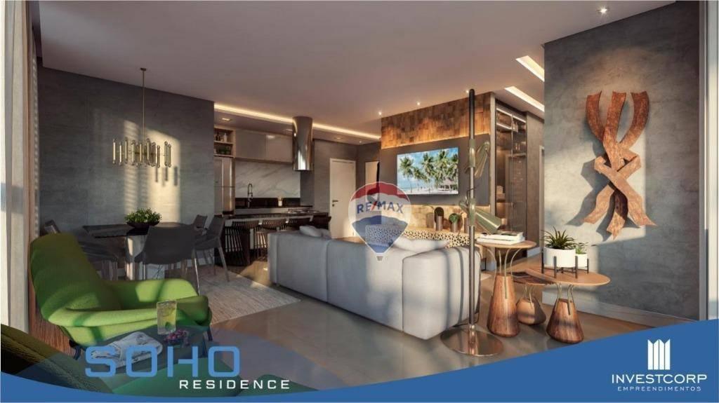 Apartamento com 3 suítes à venda, 108 m² por R$ 697.568 - Olaria - Porto Velho/RO