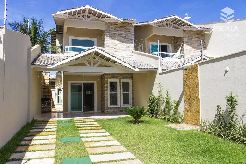 Casa duplex com 4 quartos à venda, 210 m², nova, 4 vagas, financia - Luciano Cavalcante - Fortaleza/CE