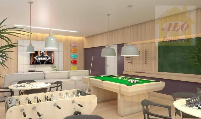 Apartamento à venda, 72 m² por R$ 370.000,00 - Canto do Forte - Praia Grande/SP