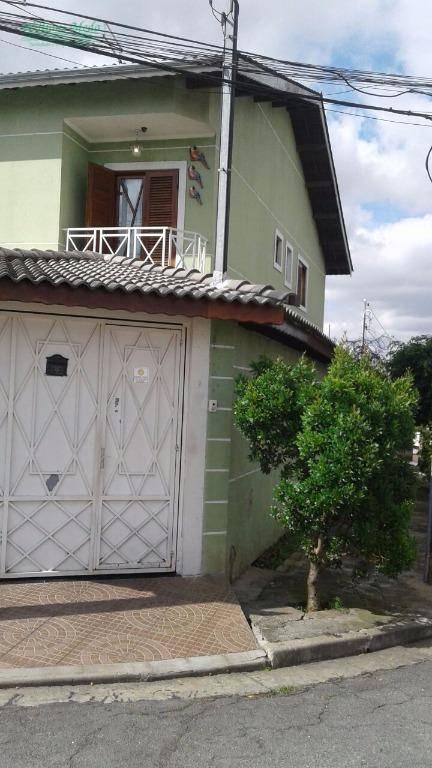 Sobrado residencial à venda, Jardim Santa Bárbara, Guarulhos.