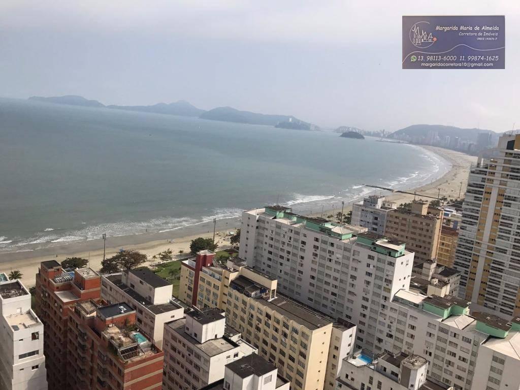 Venda Permuta apartamento Porteira Fechada na quadra da praia do Embare em Santos (SP)