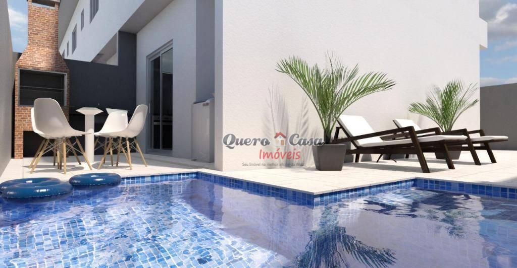 Sobrado com 2 dormitórios à venda, 70 m² por R$ 199.000 - Ci