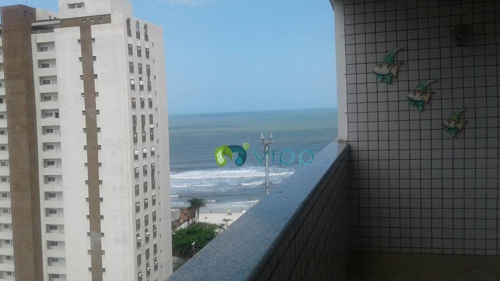 Guarujá - Pitangueiras  - Apartamento para Locação Anual : 4 Dormitórios e 3 Banheiros - Vista para o Mar