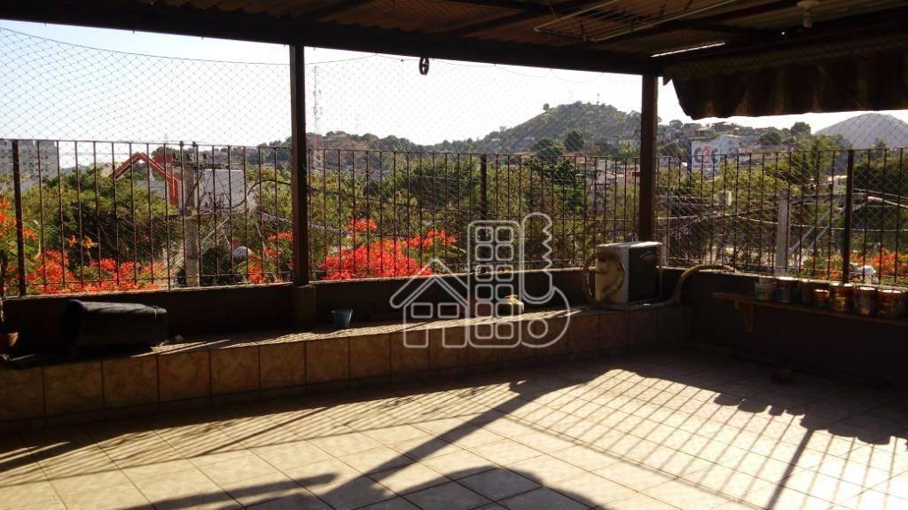 Sobrado com 2 dormitórios para alugar, 90 m² por R$ 1.400/mês - Barreto - Niterói/RJ