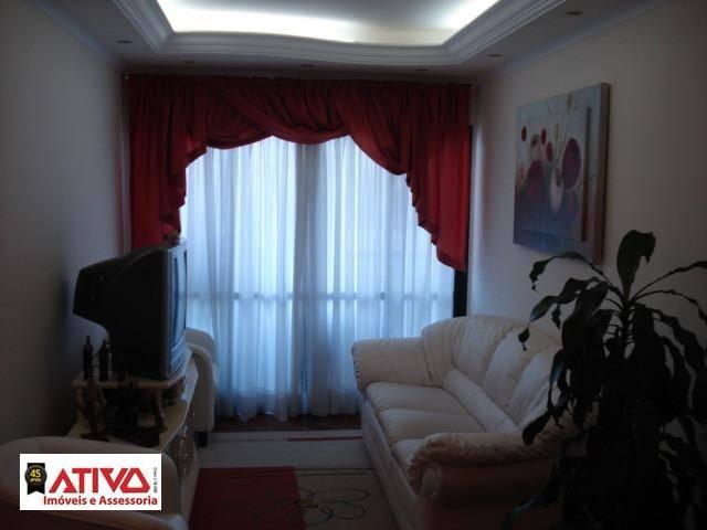 Apartamento com 3 dormitórios para alugar, 80 m² por R$ 1.350,00/mês - Rudge Ramos - São Bernardo do Campo/SP