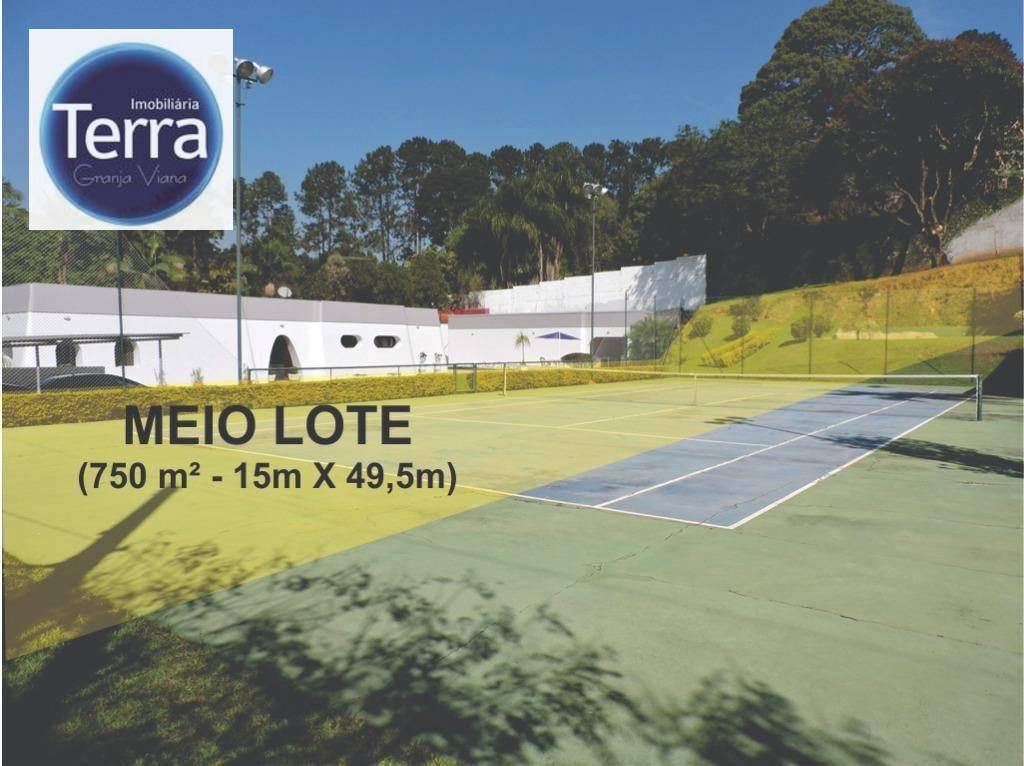 Terreno à venda, 750 m² por R$ 280.000 - Chácara Eliana - Granja Viana