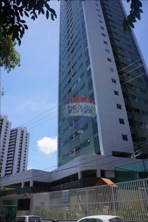 Apartamento com 2 dormitórios para alugar, 64 m² por R$ 2.200,00/mês - Torreão - Recife/PE