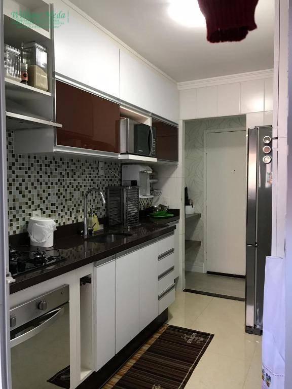 Apartamento com 3 dormitórios à venda, 77 m² por R$ 450.000 - Jardim Flor da Montanha - Guarulhos/SP
