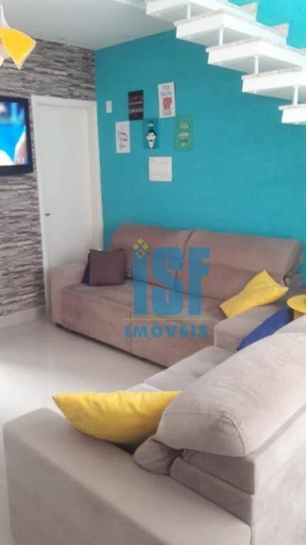 Apartamento com 2 dormitórios à venda, 49 m² por R$ 190.000 - Chácara Tropical (Caucaia do Alto) - Cotia/SP -  AP24815.
