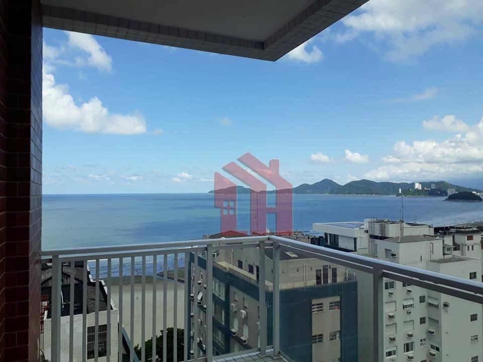 Apartamento com 1 dormitório para alugar, 46 m² por R$ 3.500,00/mês - Boqueirão - Santos/SP