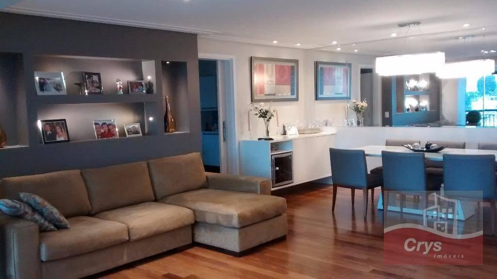 maravilhoso apartamento com 3 suítes rica em armários de ótima qualidade , sala 03 ambientes com...