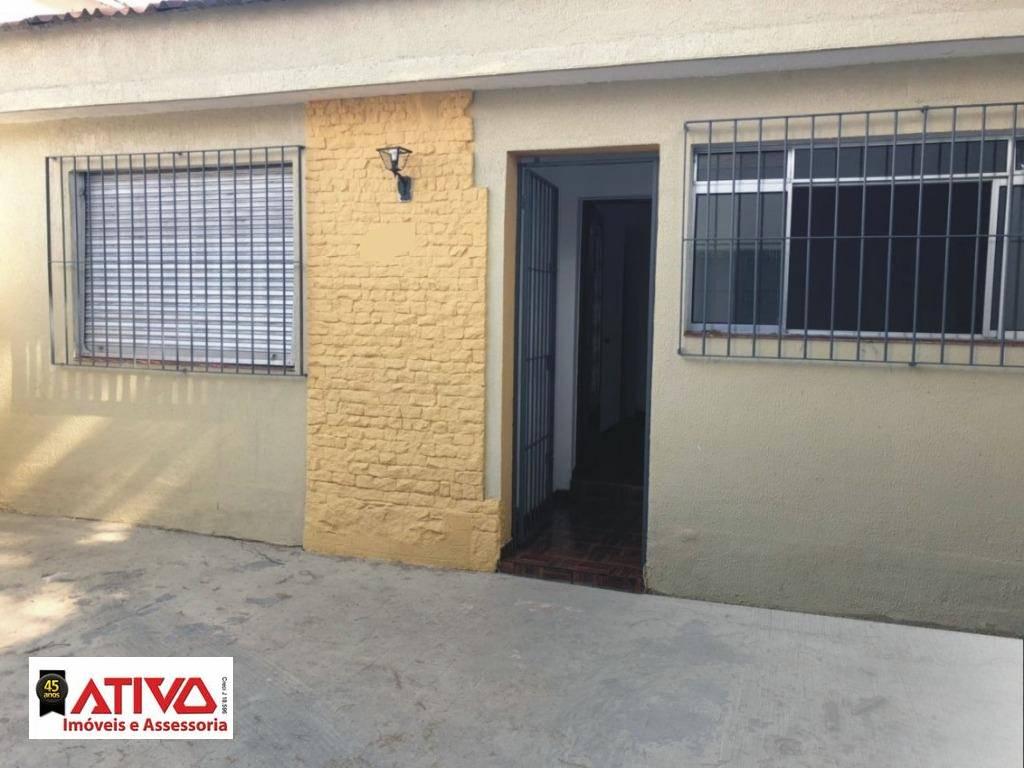 Casa com 2 dormitórios para alugar, 110 m² por R$ 1.750,00/mês - Centro - São Bernardo do Campo/SP