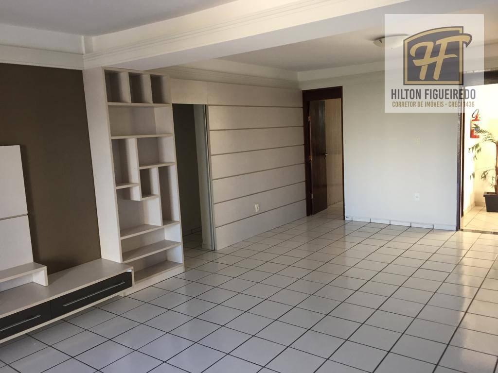Apartamento com 3 dormitórios + DCE, à venda, 130 m²+DCE por R$ 340.000 - Tambauzinho - João Pessoa/PB