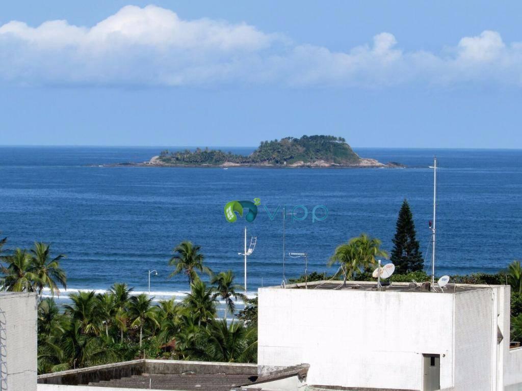 Praia da Enseada - Guarujá : Apartamento Novo 2 Dormitórios e Office com Suite - Vista Para o Mar - Mobiliado e Decorado