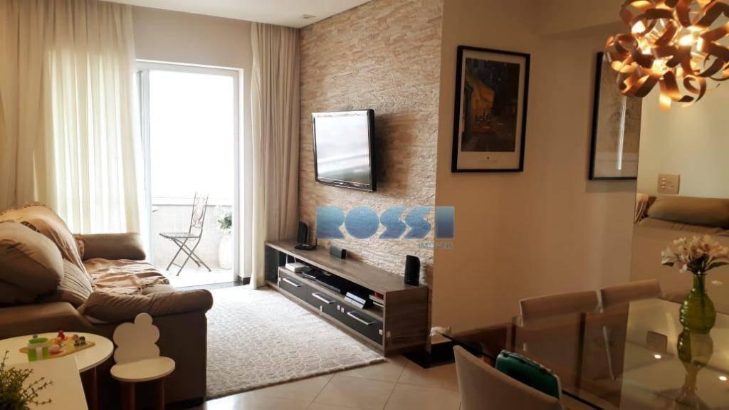 Apartamento mobiliado na Mooca com 2 dormitórios para alugar, 79 m² por R$ 2.700/mês - Mooca - São Paulo/SP