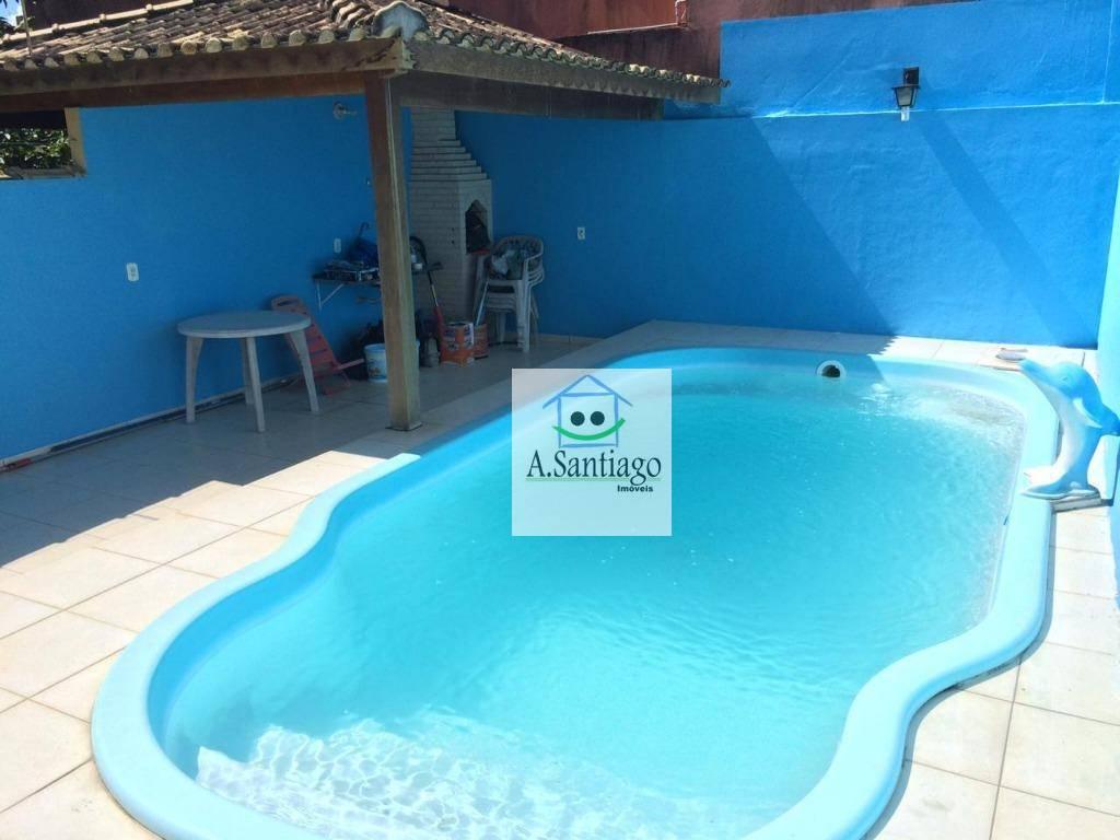 Casa com 2 suítes, piscina, quintal, nada a Fazer em Rio das Ostras