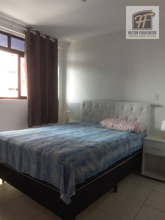 Apartamento com 2 dormitórios para alugar, 58 m² por R$ 1.700/mês - Bessa - João Pessoa/PB