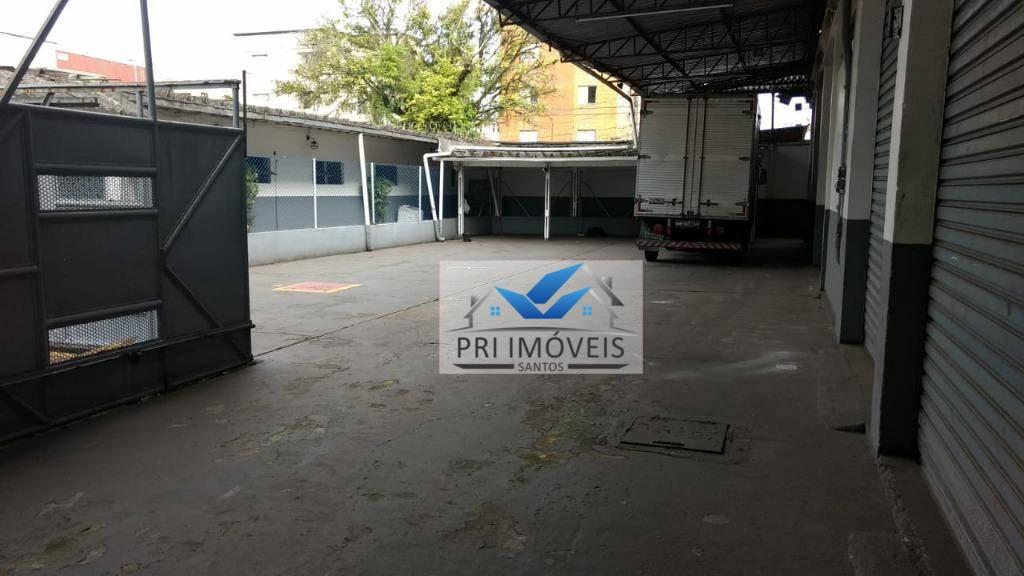 Galpão para alugar, 3.442 m² por R$ 30.000/mês - Macuco - Santos/SP