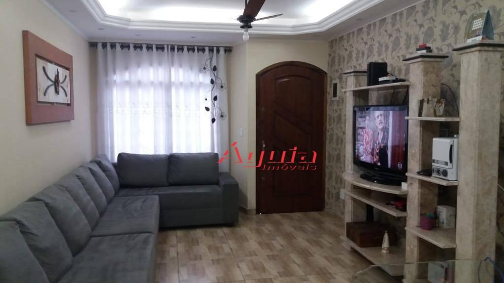 Sobrado com 3 dormitórios à venda, 135 m² por R$ 530.000 - Utinga - Santo André/SP