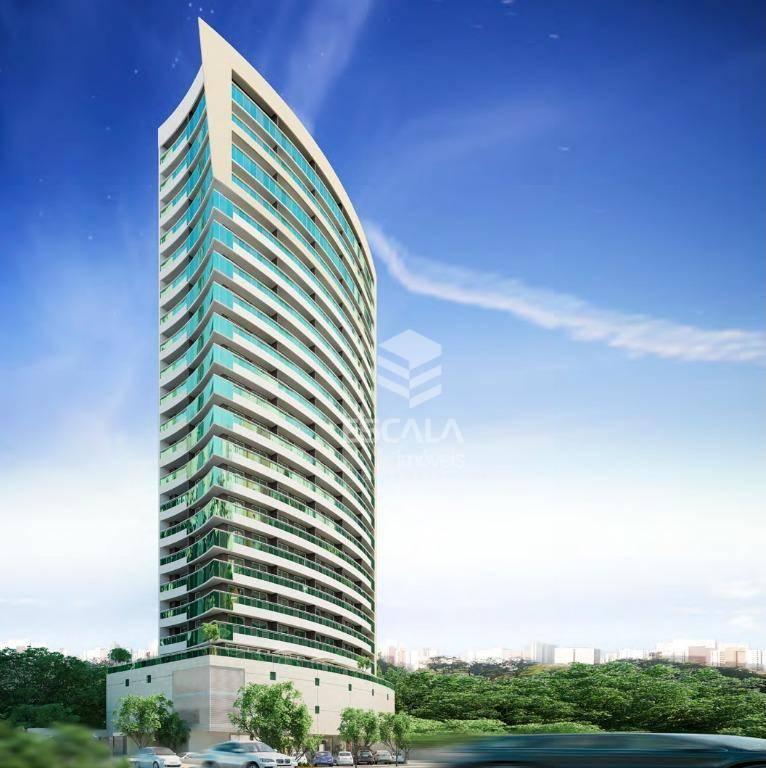 Apartamento com 2 quartos à venda, 61 m², 1 vaga, área de lazer, financia - Cocó - Fortaleza/CE