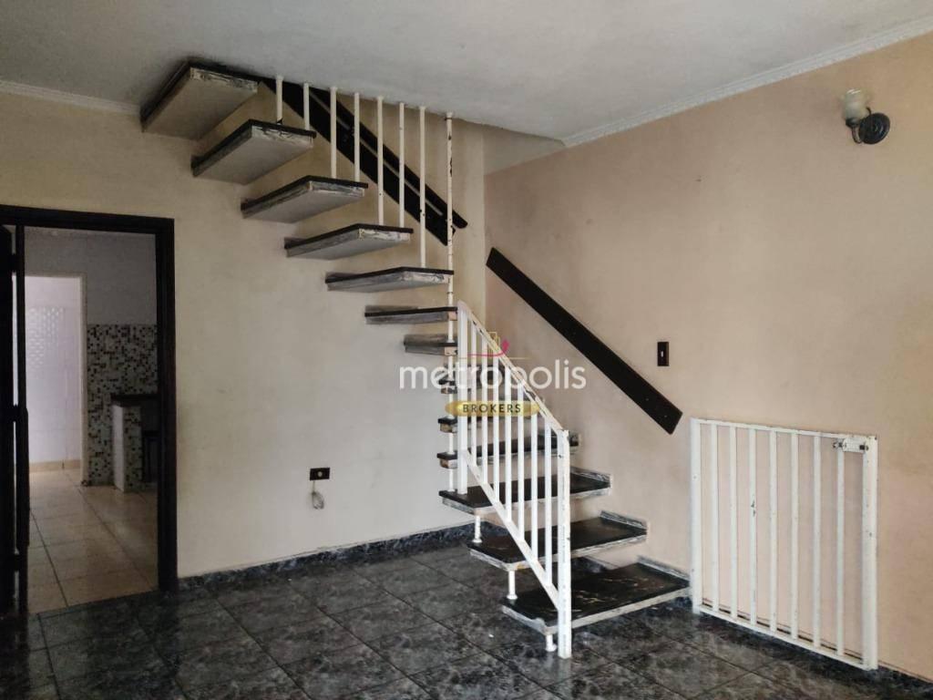 Sobrado com 3 dormitórios para alugar, 107 m² por R$ 2.700,00/mês - Osvaldo Cruz - São Caetano do Sul/SP