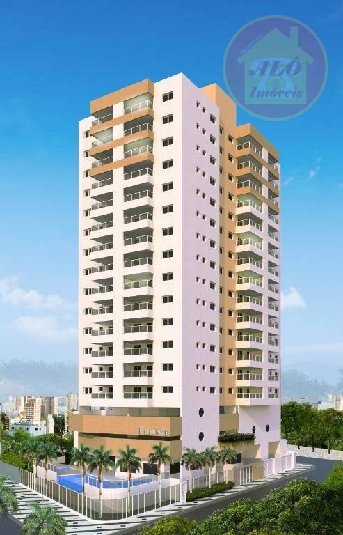 Apartamento com 2 dormitórios à venda, 75 m² por R$ 373.313,91 - Vila Atlântica - Mongaguá/SP