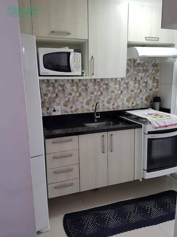 Apartamento com 2 dormitórios à venda, 54 m² por R$ 350.000 - Vila Monteiro Lobato - Guarulhos/SP